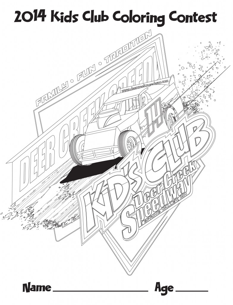 Wingless Sprint Cars Coloring Page