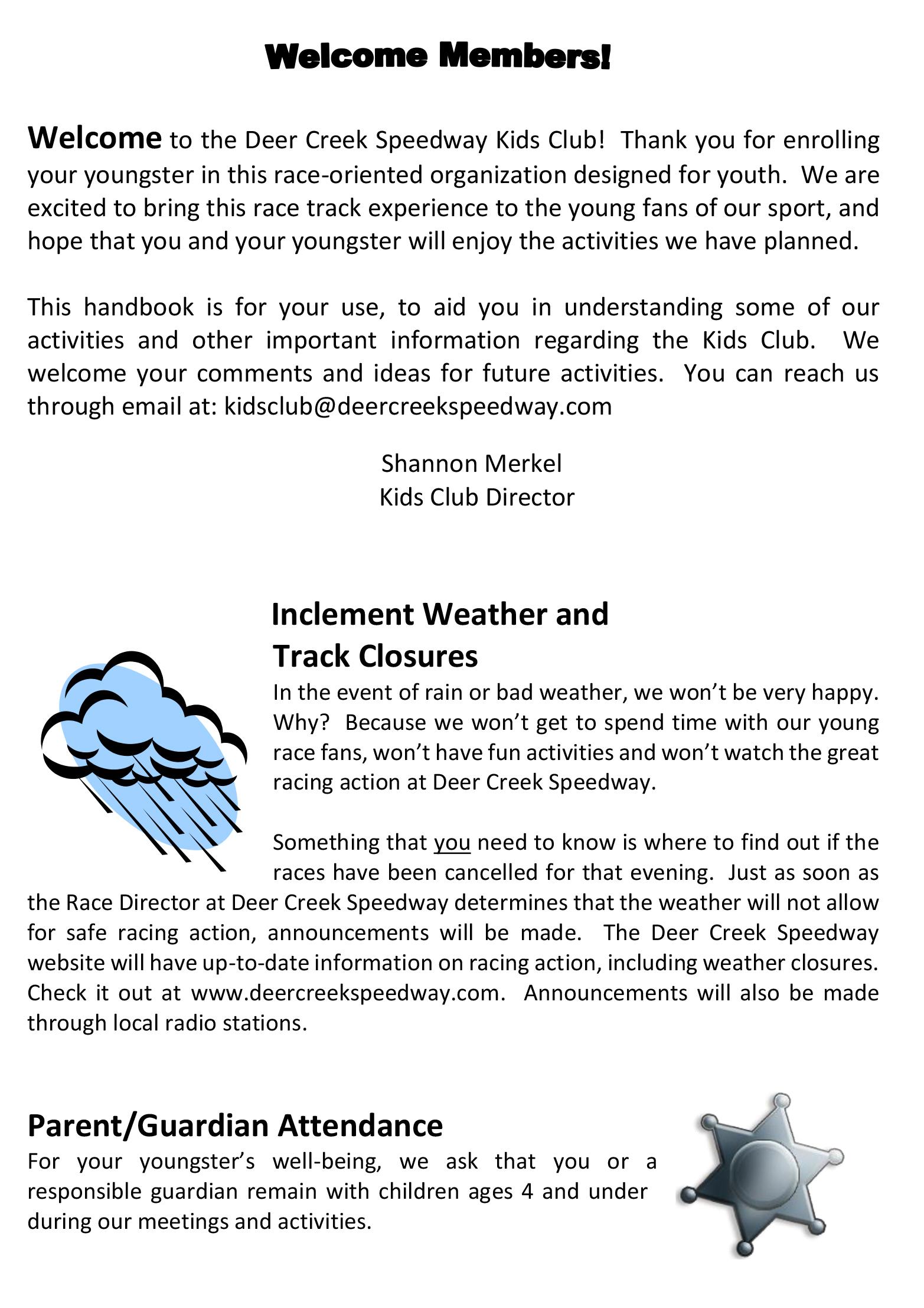 Parents Handbook – Deer Creek Speedway