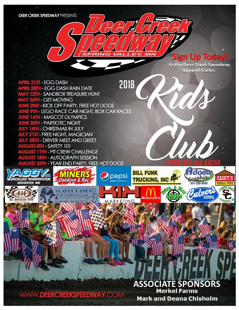 What Is Kids Club – Deer Creek Speedway 3939c721b